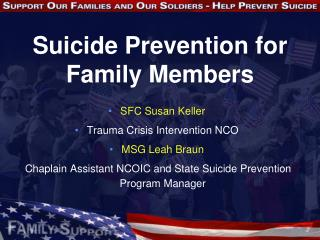 Suicide Prevention for Family Members
