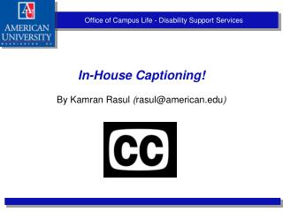 Office of Campus Life - Disability Support Services