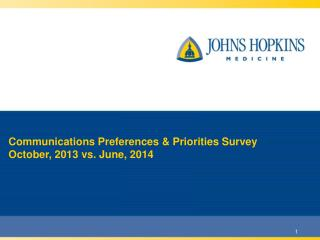 Communications Preferences & Priorities Survey October, 2013 vs. June, 2014