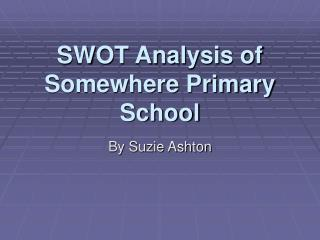 SWOT Analysis of Somewhere Primary School
