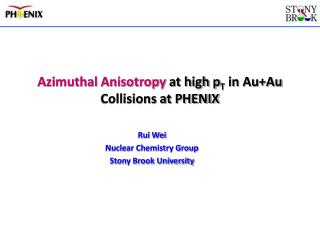 Azimuthal Anisotropy  at high p T  in Au+Au Collisions at PHENIX