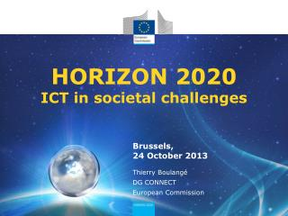 HORIZON 2020 ICT in societal challenges