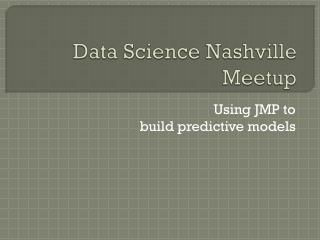 Data Science Nashville  Meetup