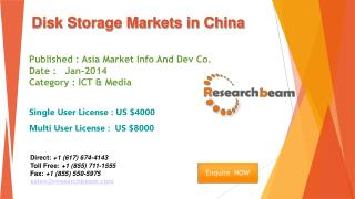 China Disk Storage Market Size, Share, Study, Forecast