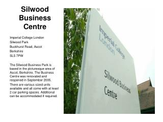Silwood Business Centre