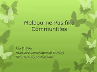 Melbourne  Pasifika Communities