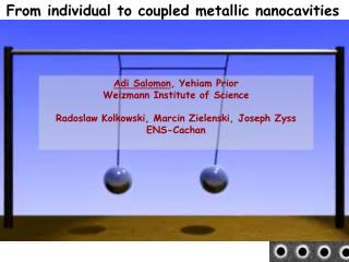 From individual to coupled metallic nanocavities