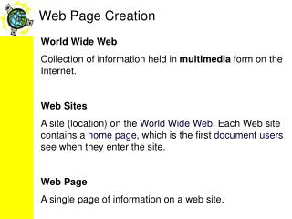 Web Page Creation