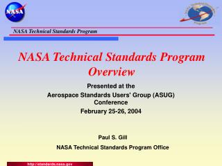 NASA Technical Standards Program Overview