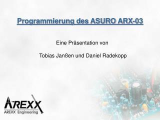 Programmierung des ASURO ARX-03