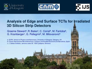 Analysis of Edge and Surface TCTs for Irradiated 3D Silicon Strip Detectors