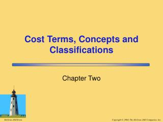Cost Terms, Concepts and Classifications