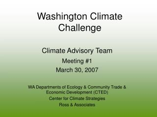 Washington Climate Challenge