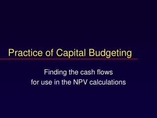 capital budgeting practice in bd The capital budgeting process is a topic you can gauge your knowledge of by using the quiz and worksheet the quiz has a multiple-choice format to.