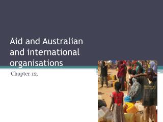 Aid and Australian and international organisations