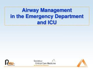 Airway Management  in the Emergency Department and ICU