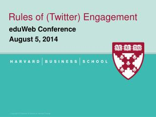Rules of (Twitter) Engagement
