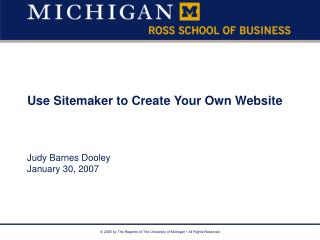 Use Sitemaker to Create Your Own Website
