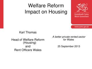 Welfare Reform Impact on Housing