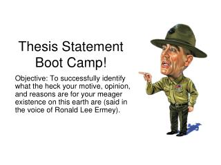 Thesis Statement Boot Camp!