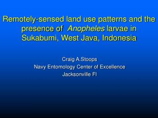 Craig A.Stoops Navy Entomology Center of Excellence Jacksonville Fl