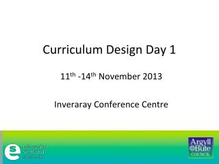 Curriculum Design Day 1