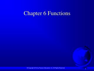 Chapter 6 Functions