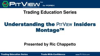 Understanding the  P IT V IEW  Insiders Montage™