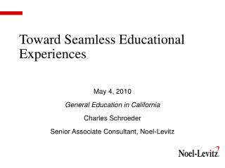 Toward Seamless Educational Experiences