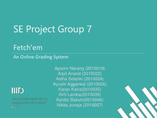 SE Project Group 7
