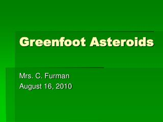 Greenfoot Asteroids