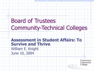 Board of Trustees Community-Technical Colleges