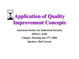 Application of Quality Improvement Concepts