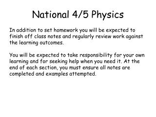 National 4/5 Physics