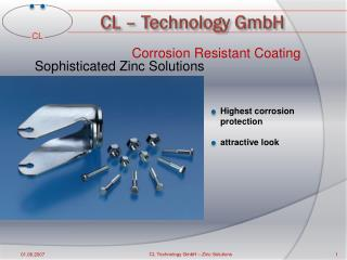 Corrosion Resistant Coating  Sophisticated Zinc  Solutions