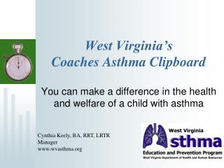 West Virginia's  Coaches Asthma Clipboard