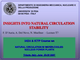 INSIGHTS INTO NATURAL CIRCULATION STABILITY