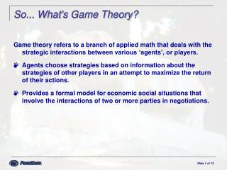 So... What's Game Theory?