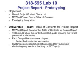318-595 Lab 10 Project Report - Prototyping