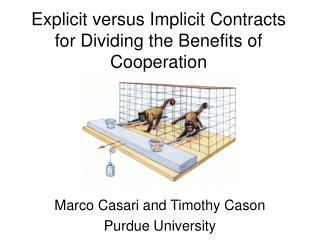 Explicit versus Implicit Contracts for Dividing the Benefits of Cooperation