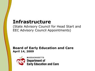 State Advisory Council (SAC) on  Early Childhood Education and Care