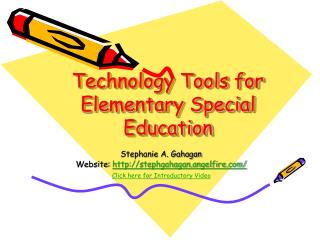 Technology Tools for Elementary Special Education