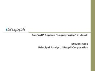 """Can VoIP Replace """"Legacy Voice"""" in Asia?"""