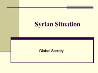 Syrian Situation