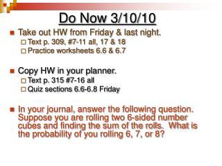 Do Now 3/10/10