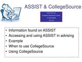 ASSIST & CollegeSource