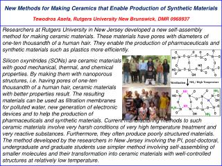New Methods for Making Ceramics that Enable Production of Synthetic Materials