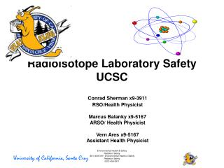 Radioisotope Laboratory Safety UCSC
