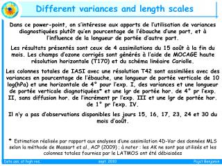 Different variances and length scales