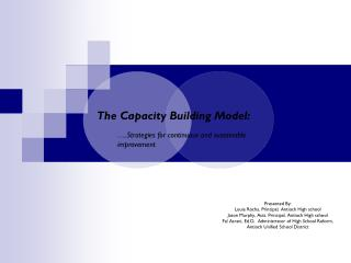 The Capacity Building Model: